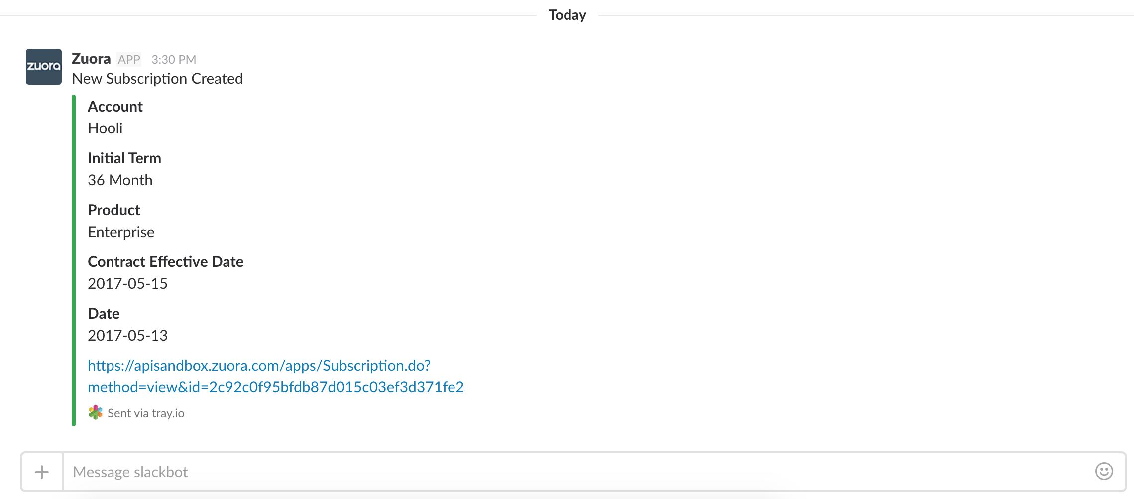 Slack Notifications For Zuora Events Tray Io